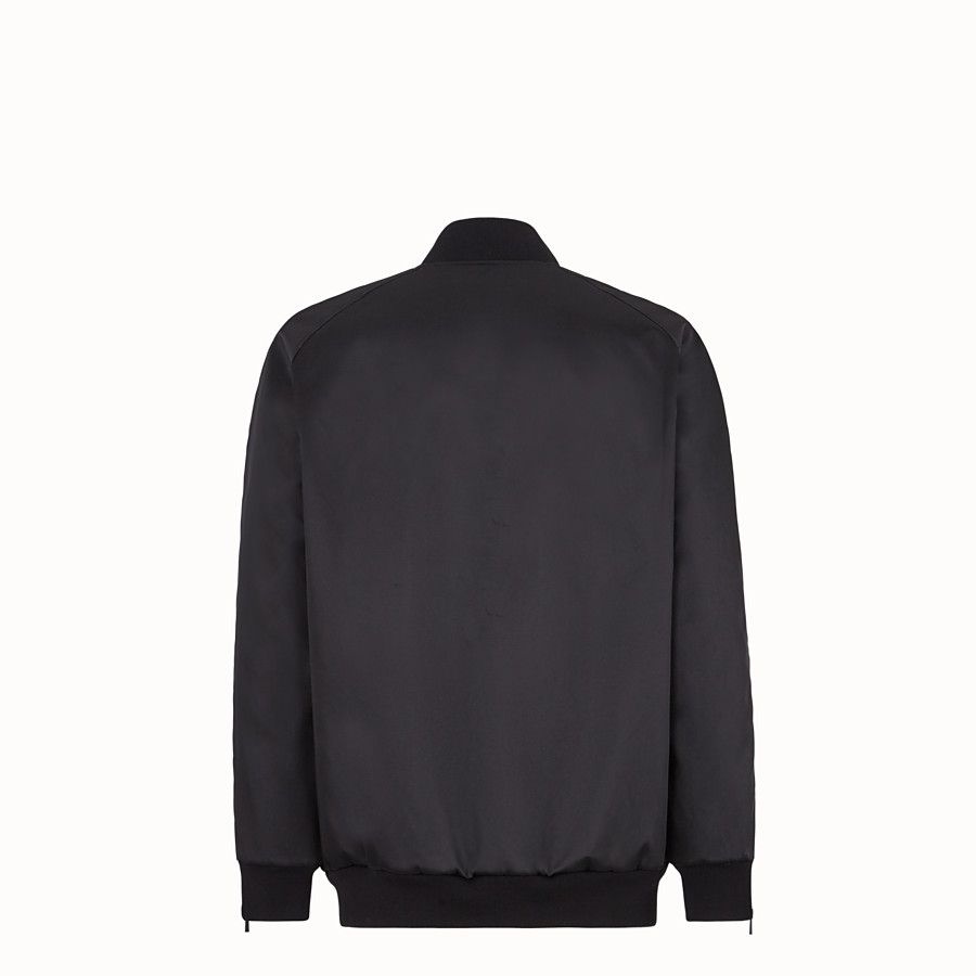 FENDI BOMBER - Black nylon bomber jacket - view 2 detail
