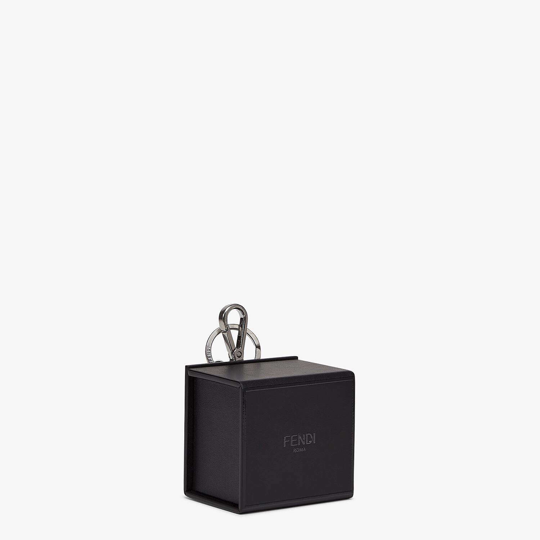 FENDI KEY CHARM - Black leather key ring - view 2 detail