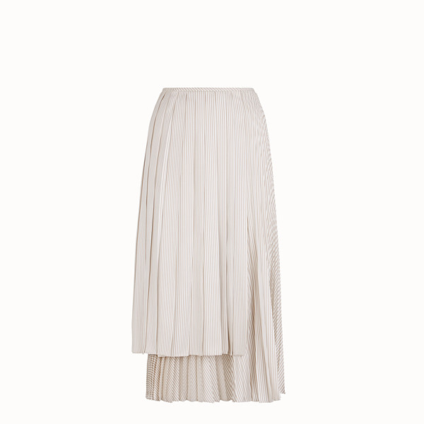 FENDI SKIRT - White satin skirt - view 1 small thumbnail
