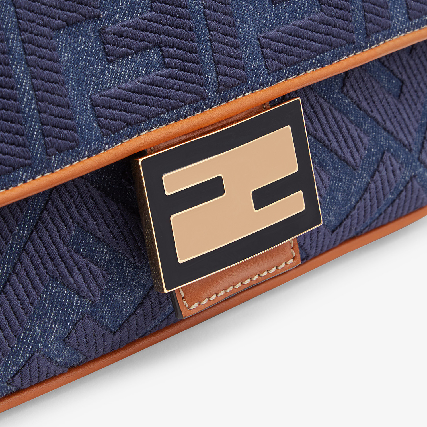 FENDI BAGUETTE - Tasche aus Denim in Blau - view 5 detail