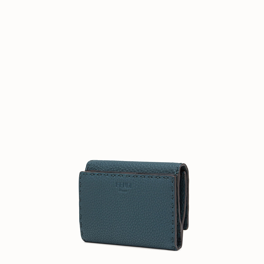 FENDI CONTINENTAL MEDIUM - Selleria medium blue continental wallet - view 2 detail