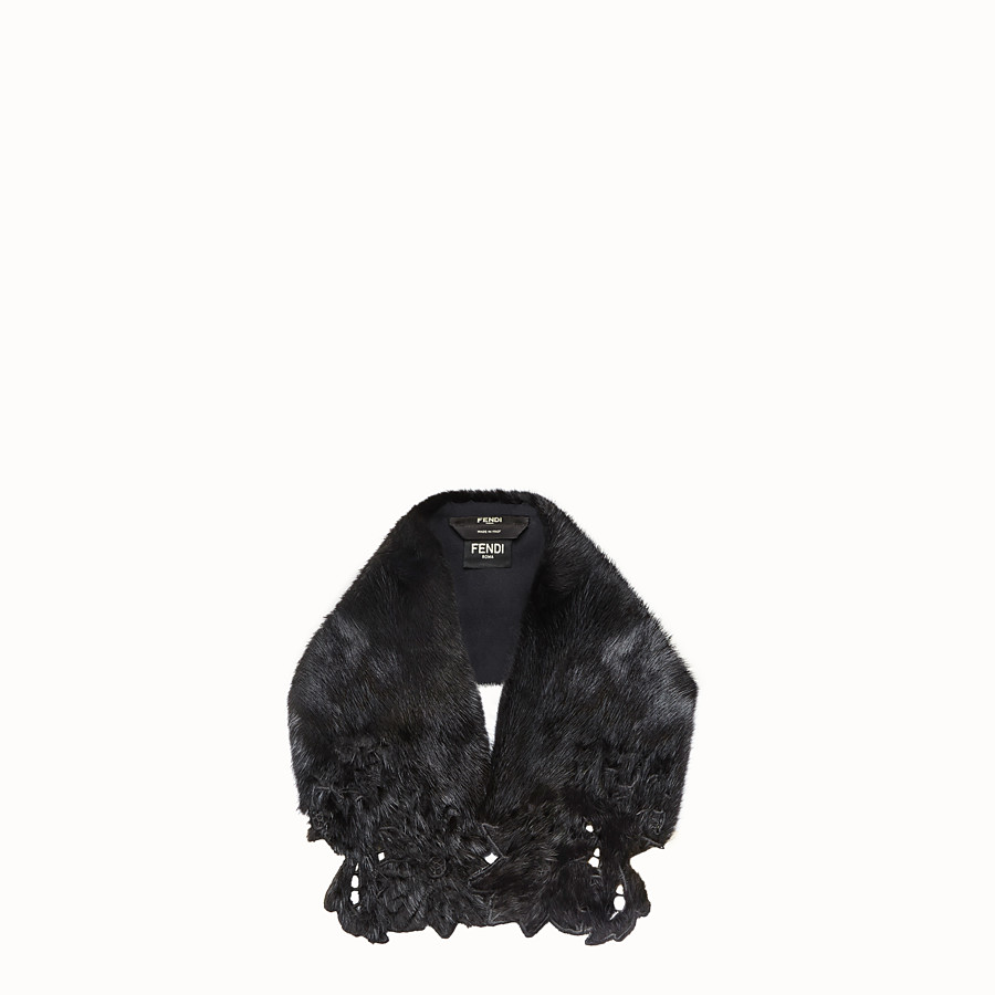 FENDI COLLAR - Black mink collar - view 1 detail