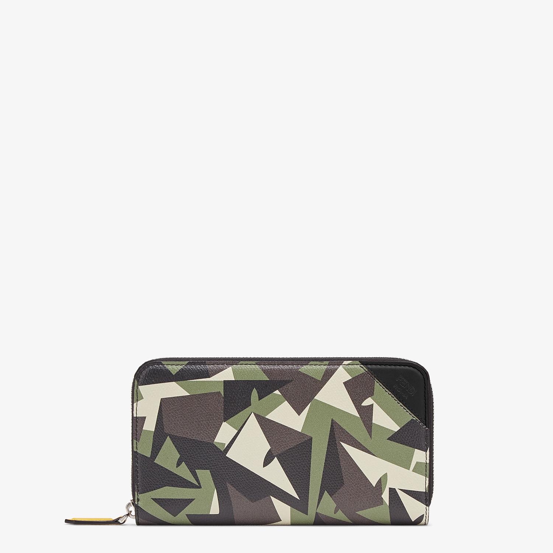 FENDI ZIP-AROUND - Green leather wallet - view 1 detail