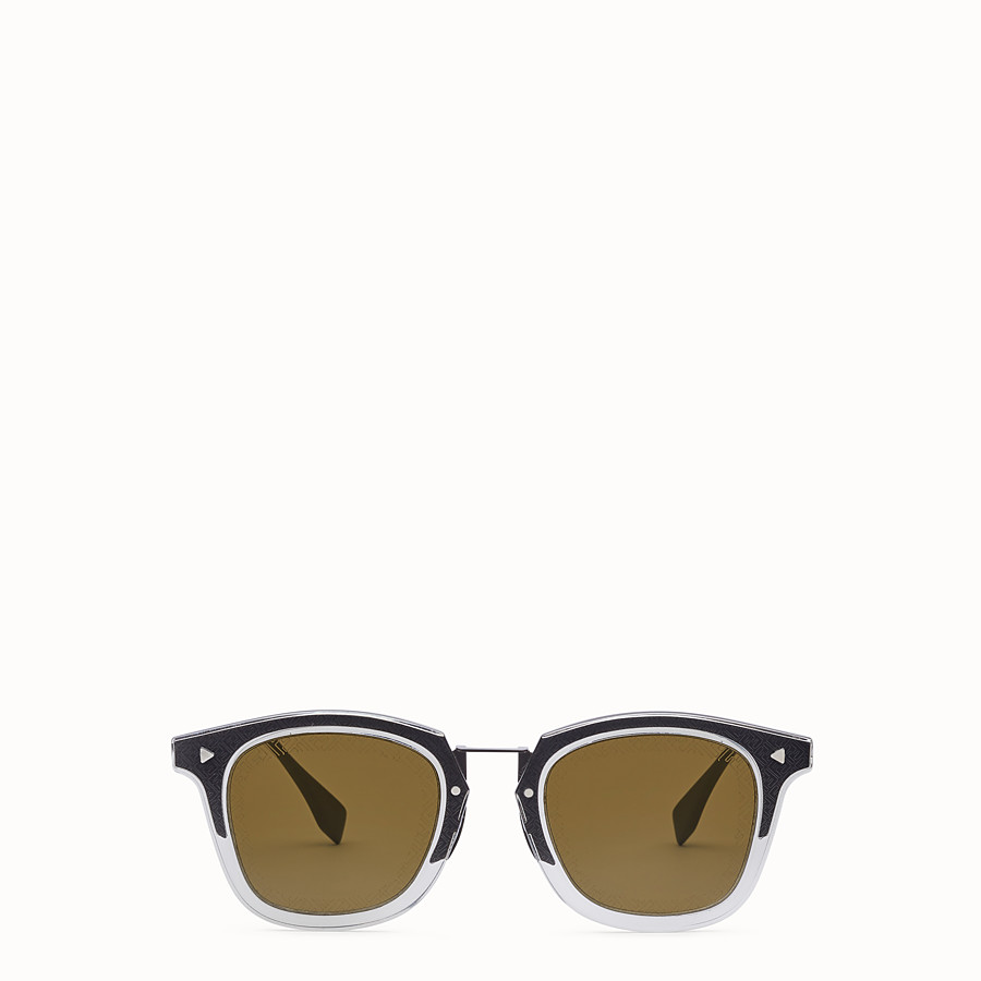 FENDI FF - Dark grey ruthenium sunglasses - view 1 detail