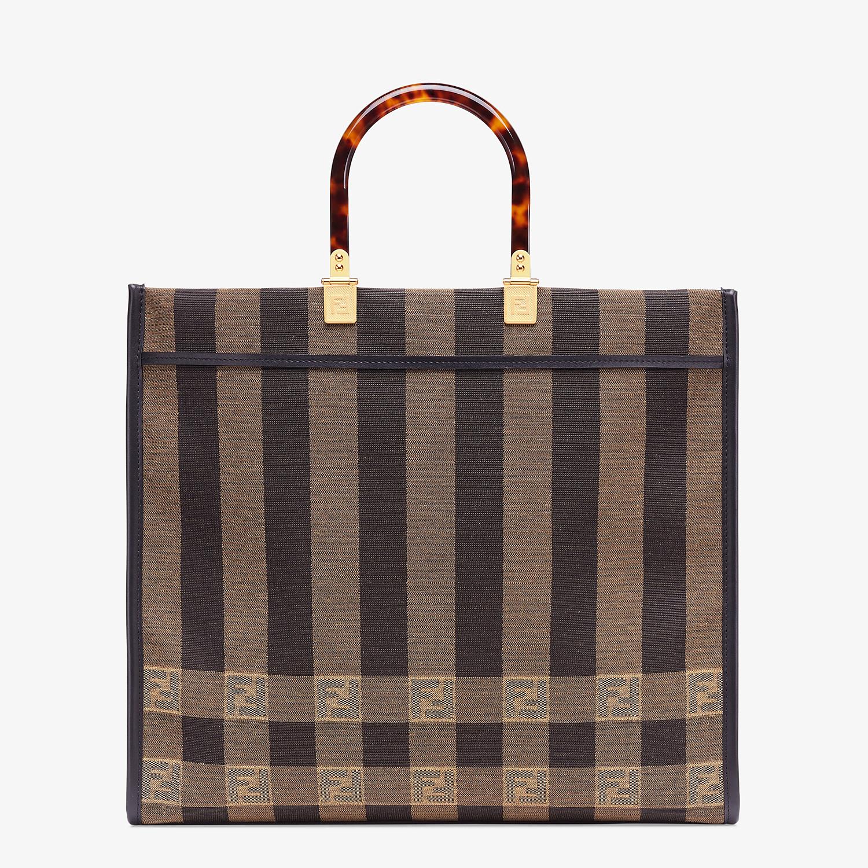 FENDI FENDI SUNSHINE LARGE - Shopper in brown fabric - view 1 detail