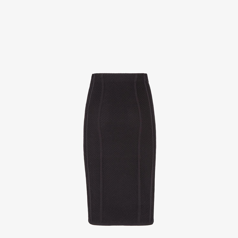 FENDI SKIRT - Black mesh skirt - view 2 detail