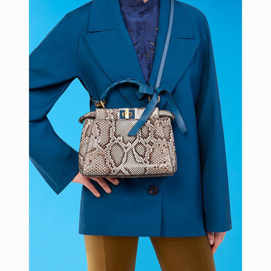 FENDI PEEKABOO MINI - Grey python bag - view 5 detail