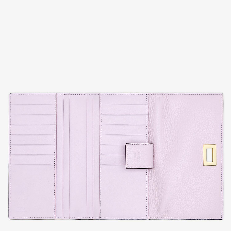 FENDI 三つ折り財布 - ライラックレザー 財布 - view 4 detail