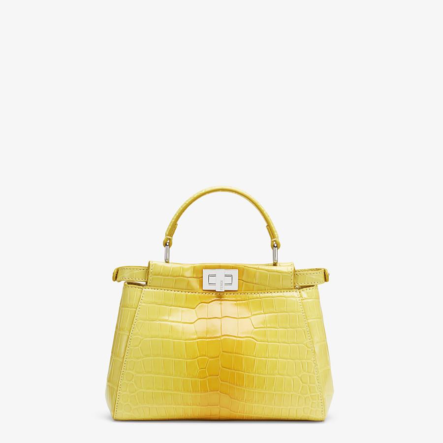 FENDI PEEKABOO ICONIC MINI - Yellow crocodile leather bag - view 3 detail