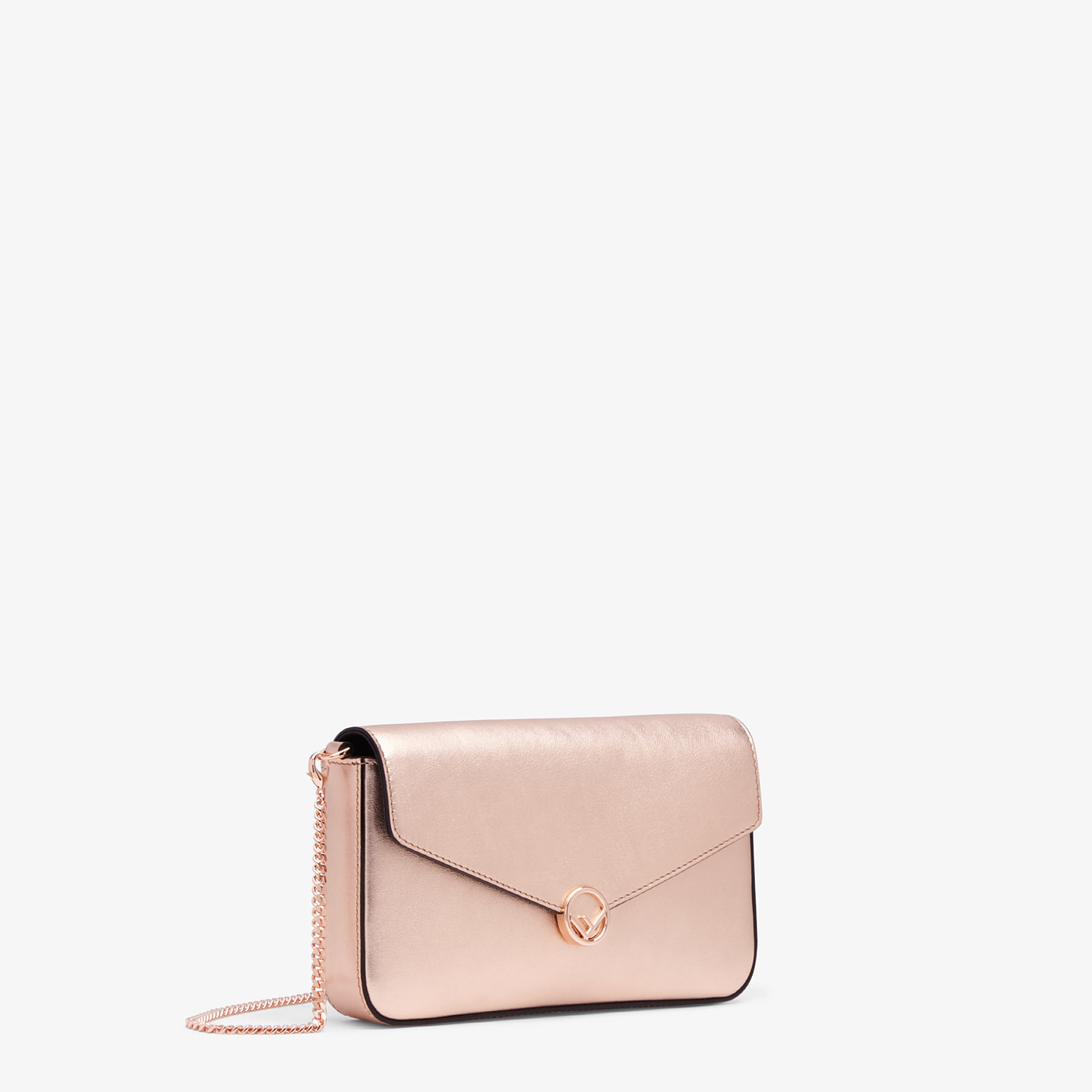 FENDI WALLET ON CHAIN WITH POUCHES - Pink leather mini-bag - view 3 detail