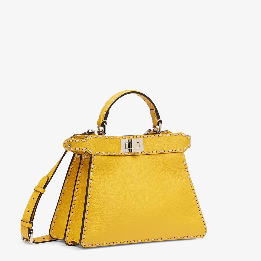 FENDI PEEKABOO ISEEU SMALL - Yellow full grain leather bag - view 2 detail