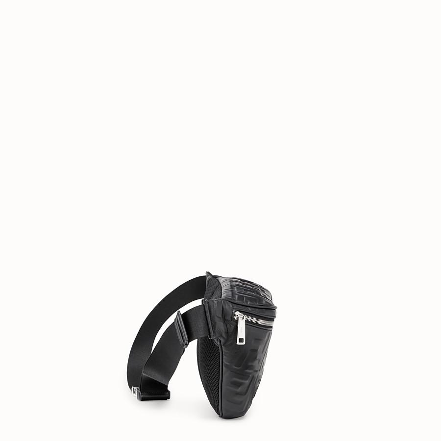 FENDI BELT BAG - Black nappa leather belt bag - view 2 detail