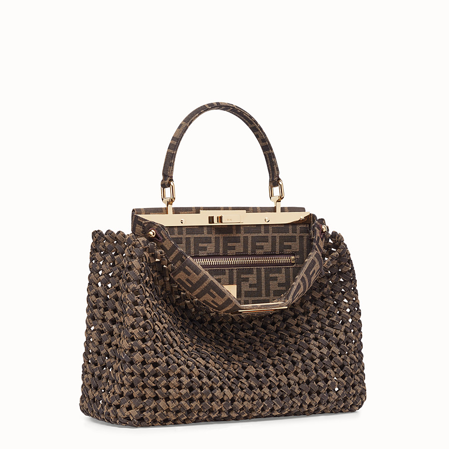 FENDI PEEKABOO ICONIC MEDIUM - FF jacquard interlace bag - view 3 detail