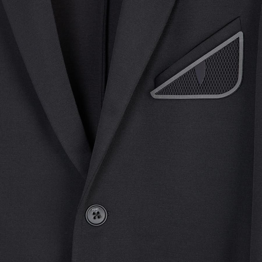 FENDI 外套 - 黑色針織西裝外套 - view 3 detail