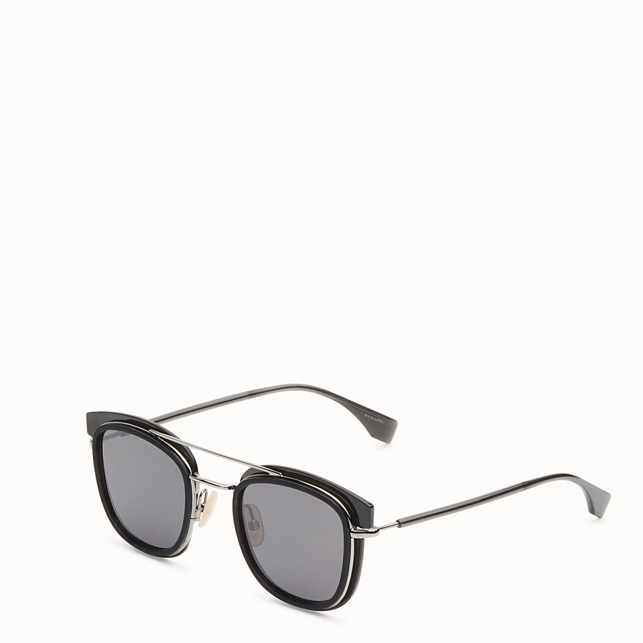 FENDI FENDI GLASS - Dark grey and dark ruthenium sunglasses - view 2 detail