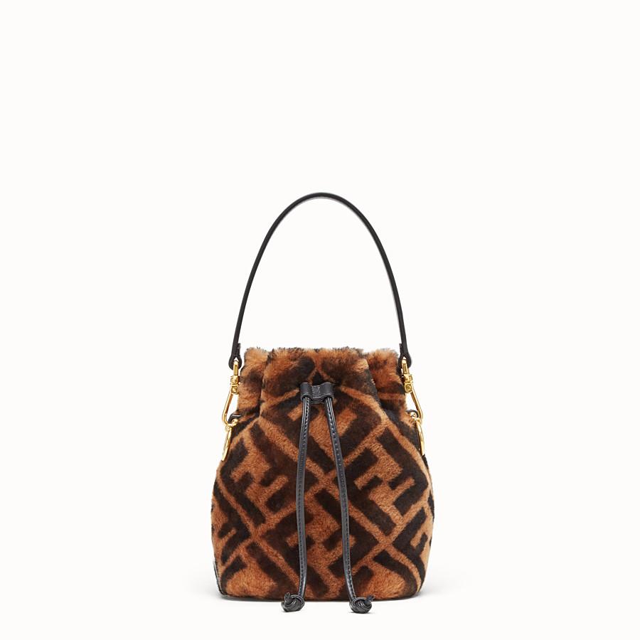 FENDI MON TRESOR - Mini sac en peau de mouton marron - view 1 detail