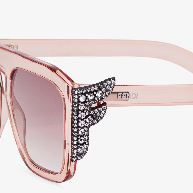 FENDI FFREEDOM - Pink sunglasses - view 3 detail