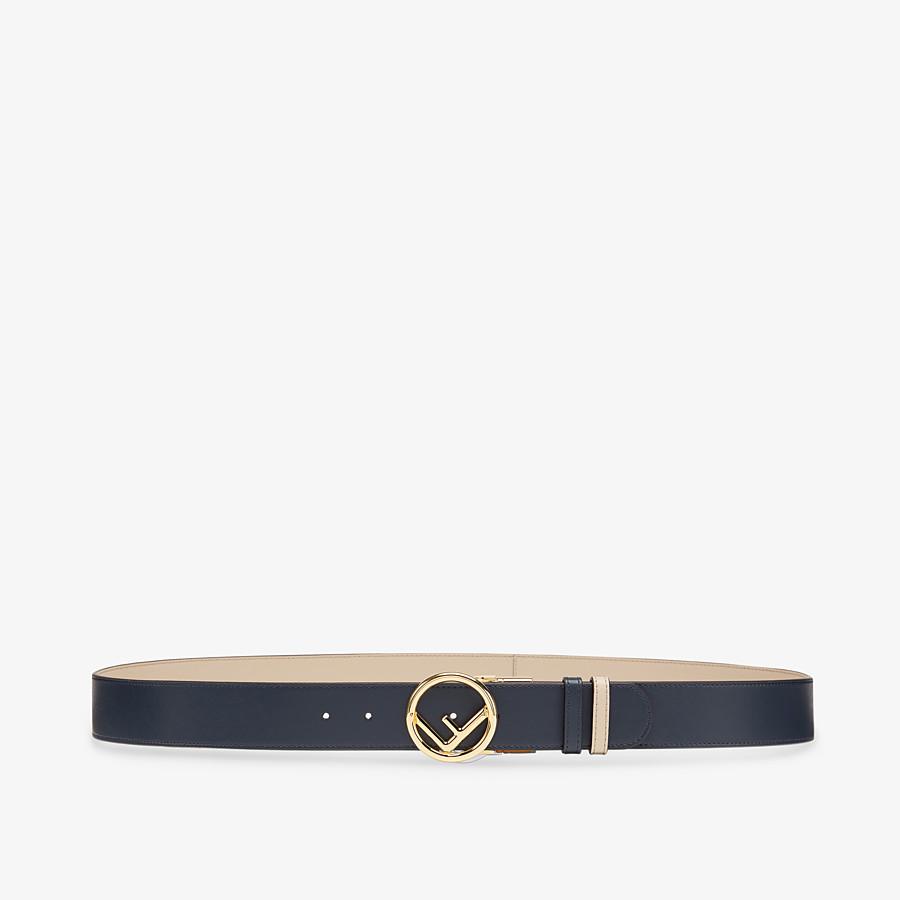 FENDI BELT - Navy blue leather belt - view 1 detail