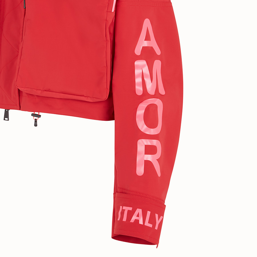 FENDI JACKET - Fendi Roma Amor tech fabric jacket - view 3 detail