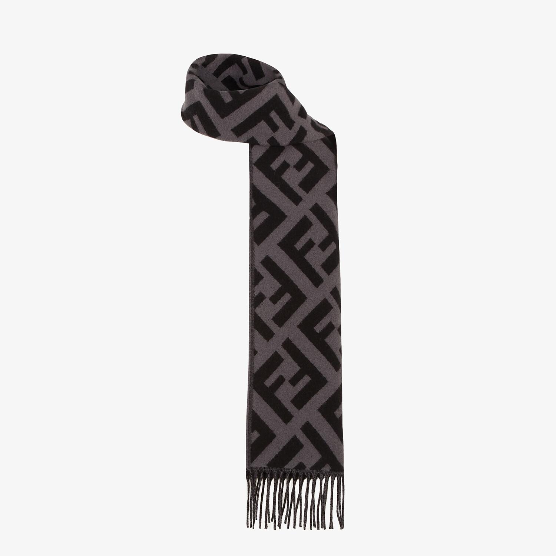 FENDI SCARF - Black cashmere scarf - view 2 detail