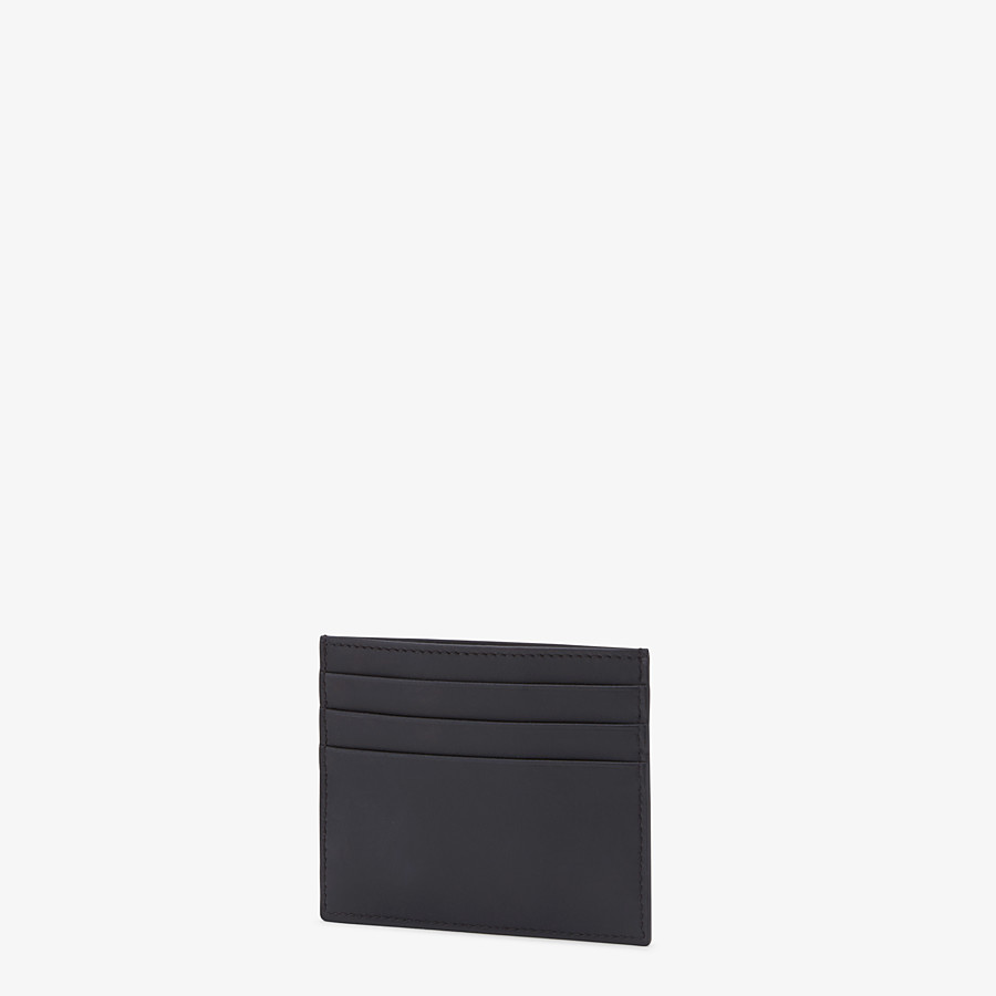 FENDI CARD HOLDER - Black leather card holder with six slots - view 2 detail