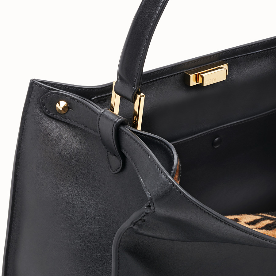 FENDI PEEKABOO X-LITE LARGE - Black leather bag - view 7 detail