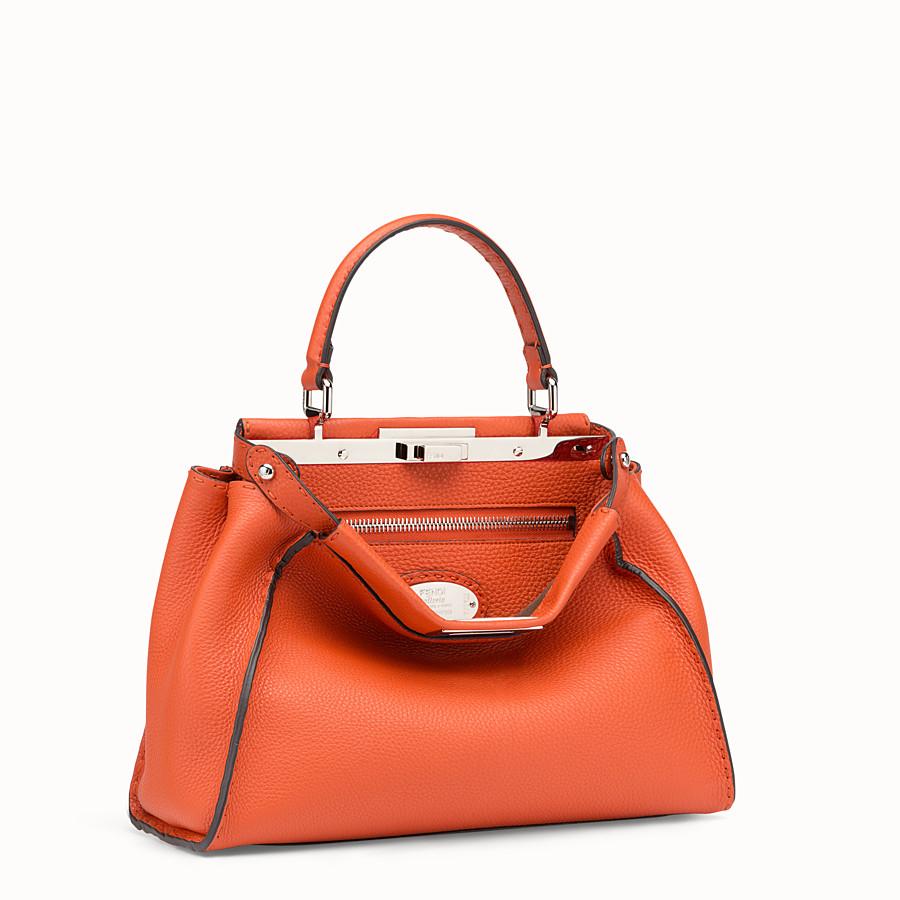 FENDI PEEKABOO REGULAR - Orange leather bag - view 2 detail