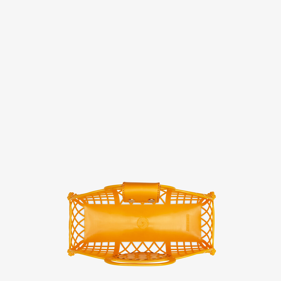 FENDI FENDI BASKET SMALL - Orange recycled plastic mini-bag - view 5 detail