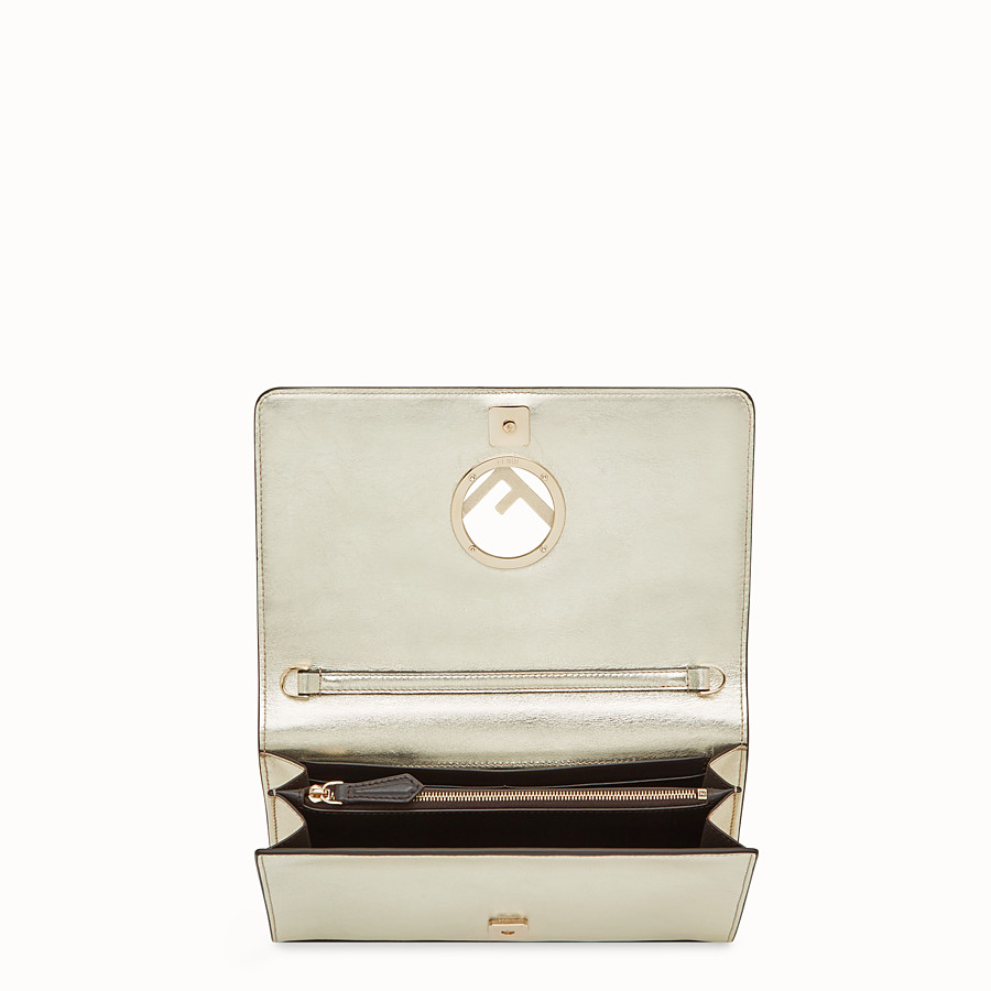FENDI WALLET ON CHAIN - Champagne leather mini-bag - view 4 detail