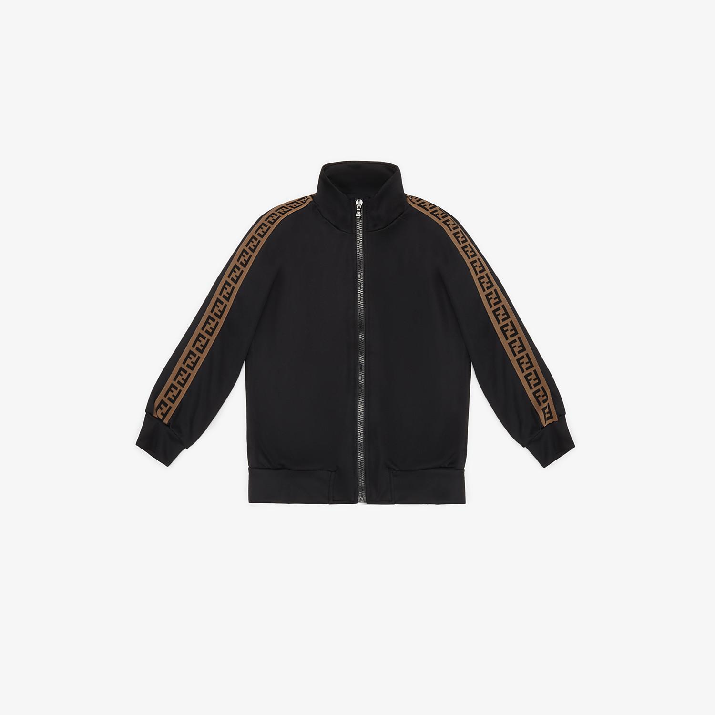 FENDI SWEATSHIRT - Black tech fabric sweatshirt - view 1 detail