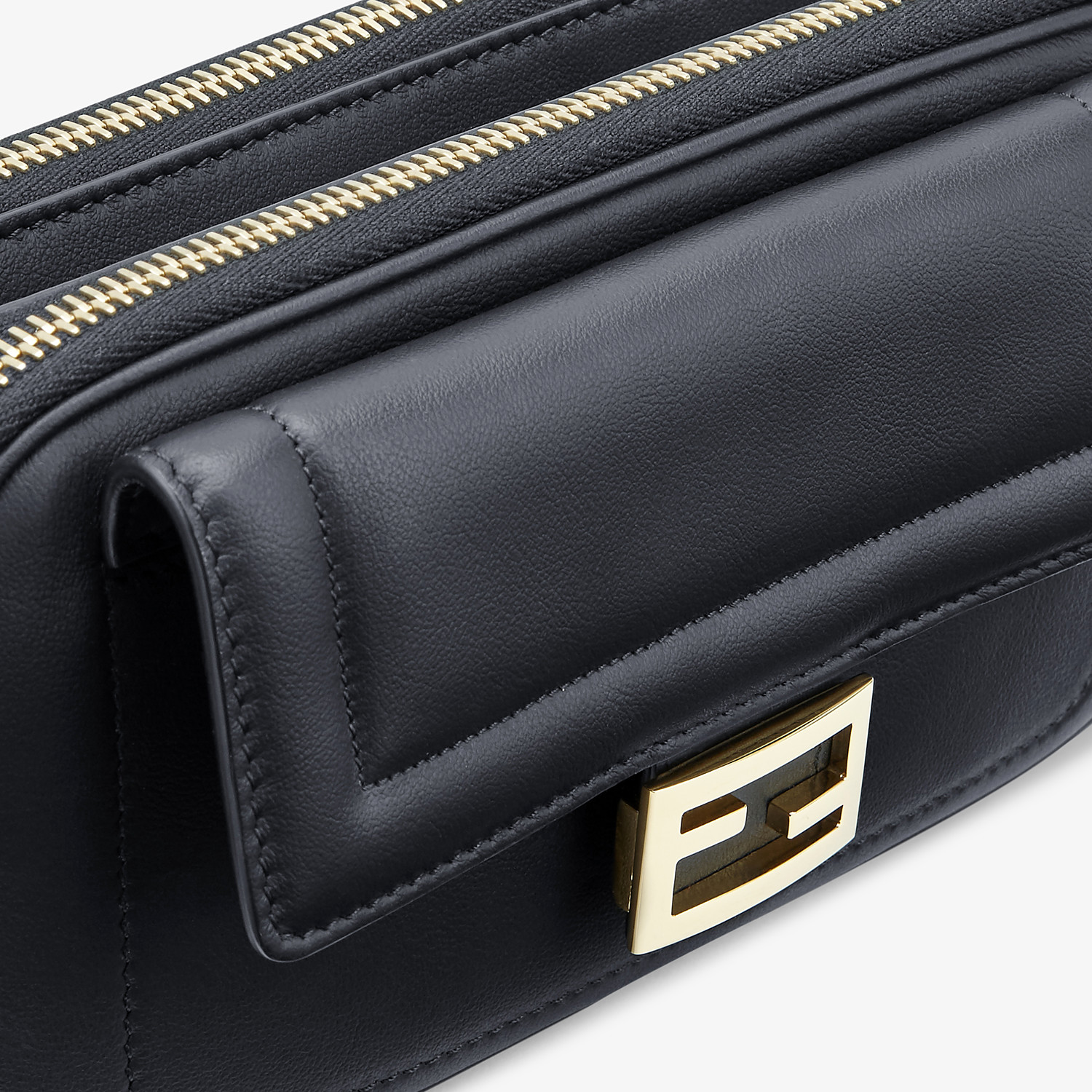 FENDI EASY 2 BAGUETTE - Black leather mini-bag - view 6 detail