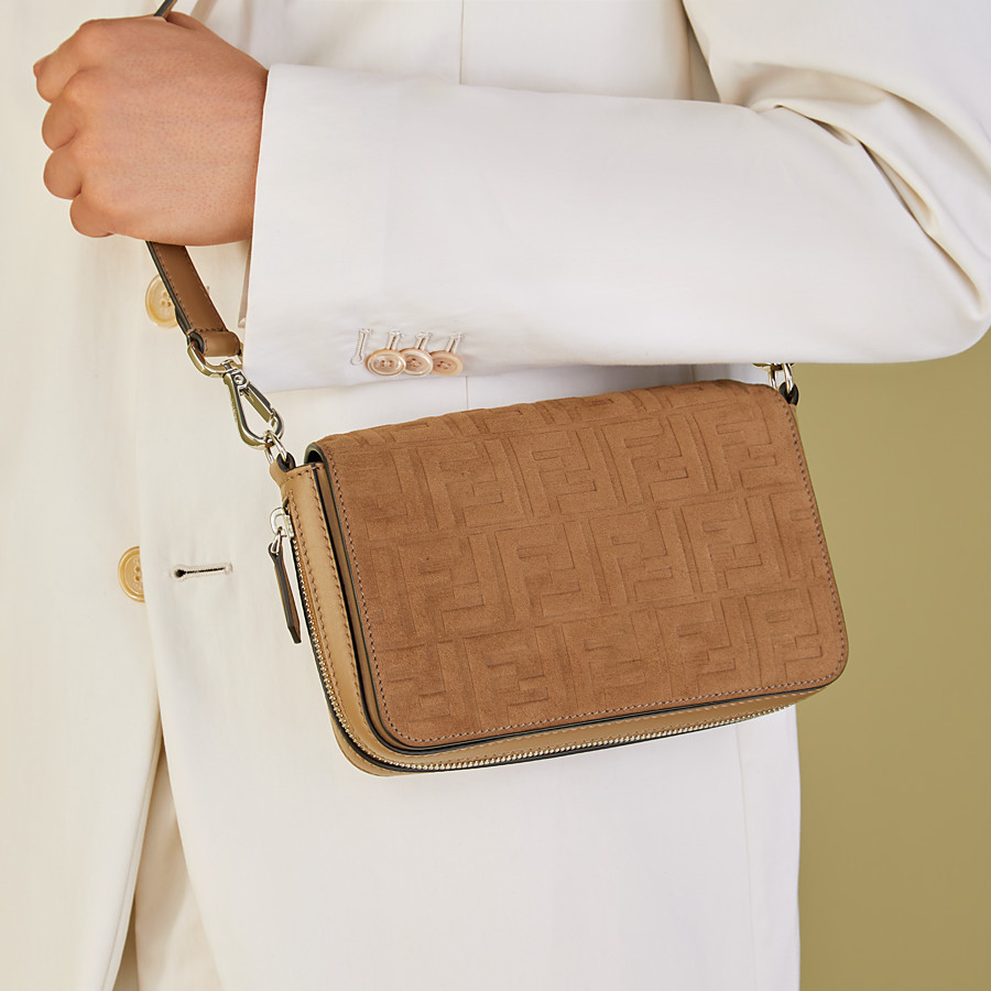 FENDI FLAP BAG - Beige leather bag - view 7 detail