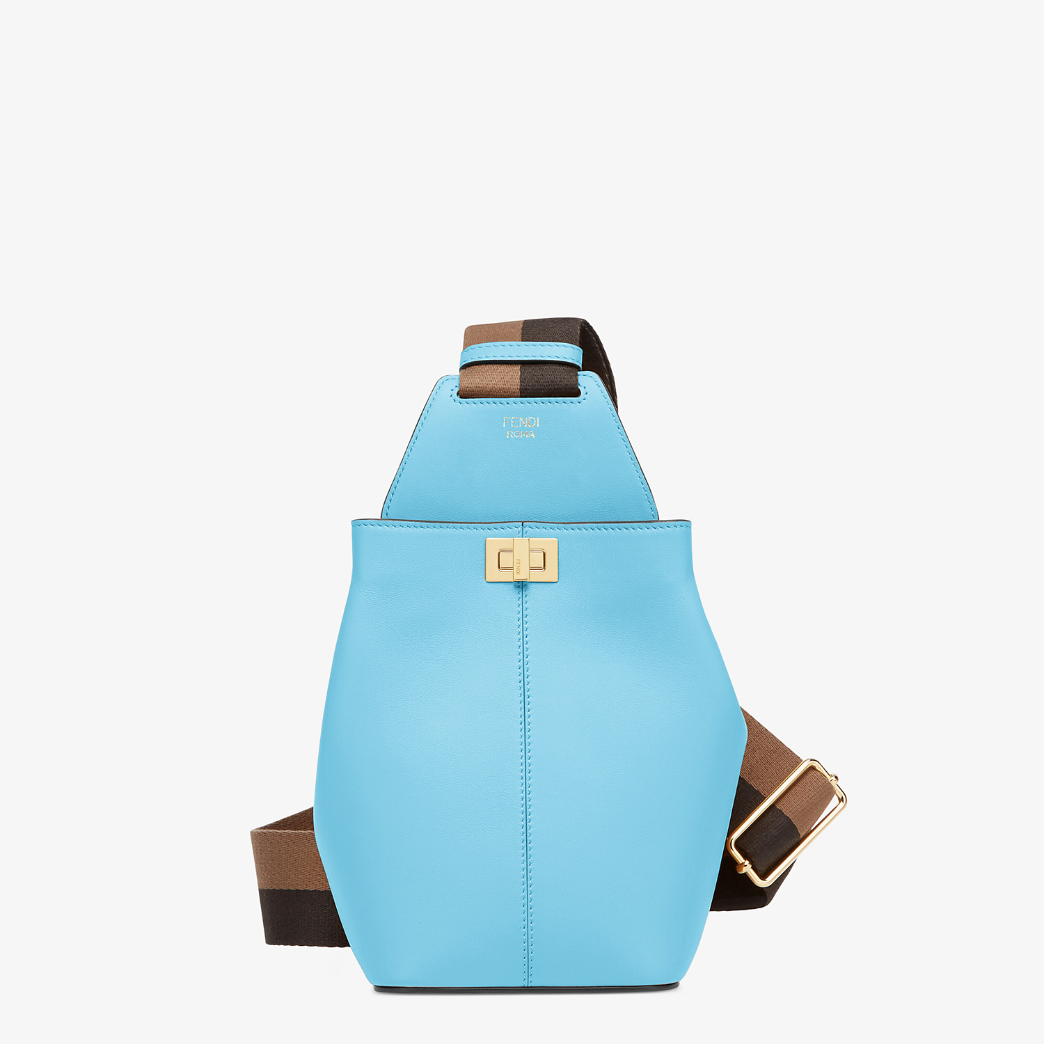 FENDI GUITAR BAG - Light blue leather mini-bag - view 1 detail