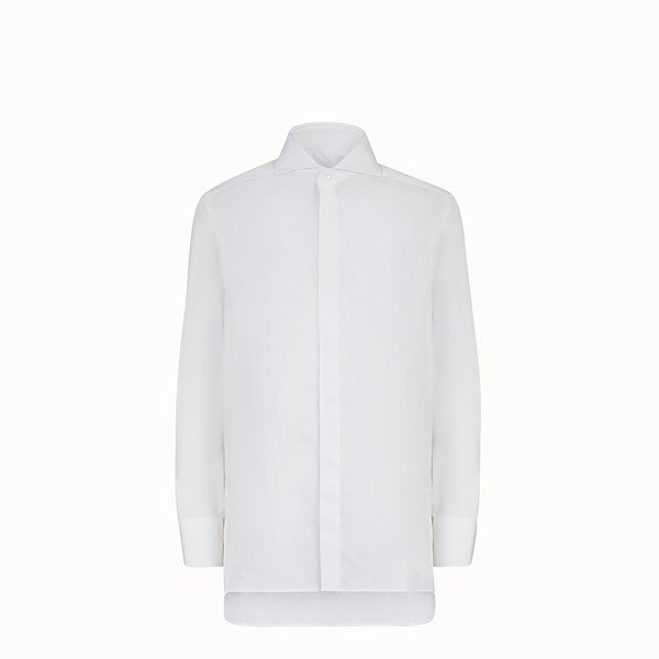 FENDI COTTON SHIRT - Shirt in white poplin - view 1 small thumbnail