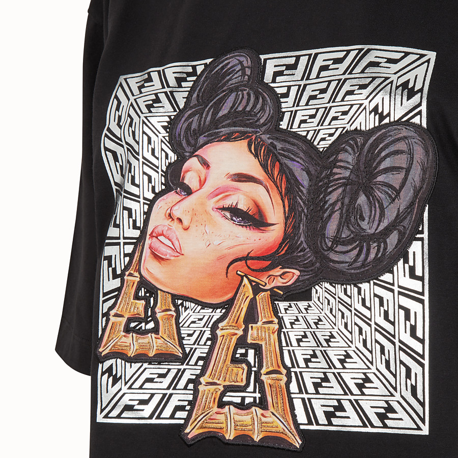 FENDI T-SHIRT - Fendi Prints On jersey T-shirt - view 3 detail