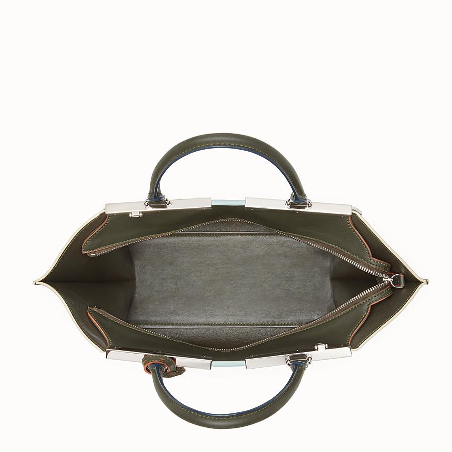 FENDI 3JOURS - Green leather shopper bag - view 4 detail