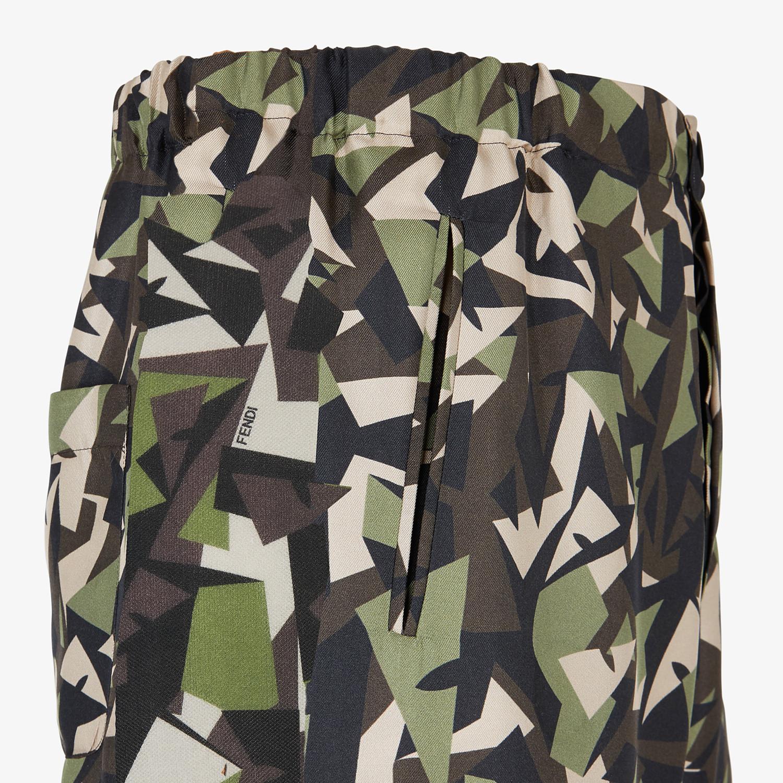 FENDI PANTS - Multicolor silk pants - view 3 detail