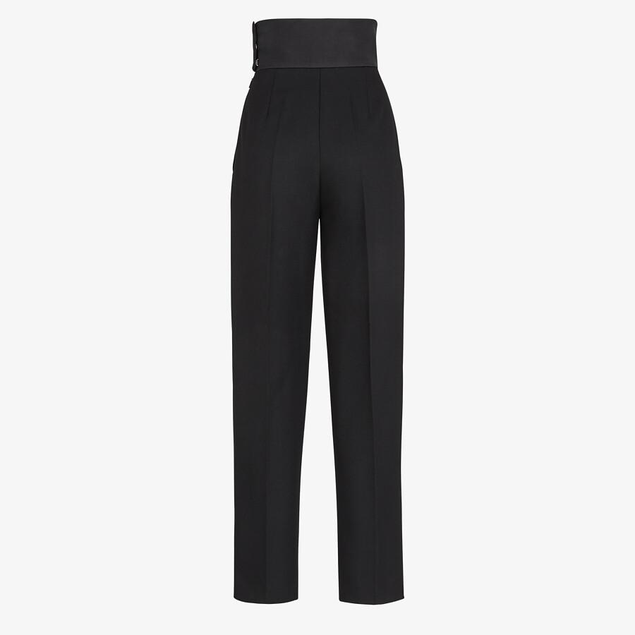 FENDI TROUSERS - Black wool trousers - view 2 detail