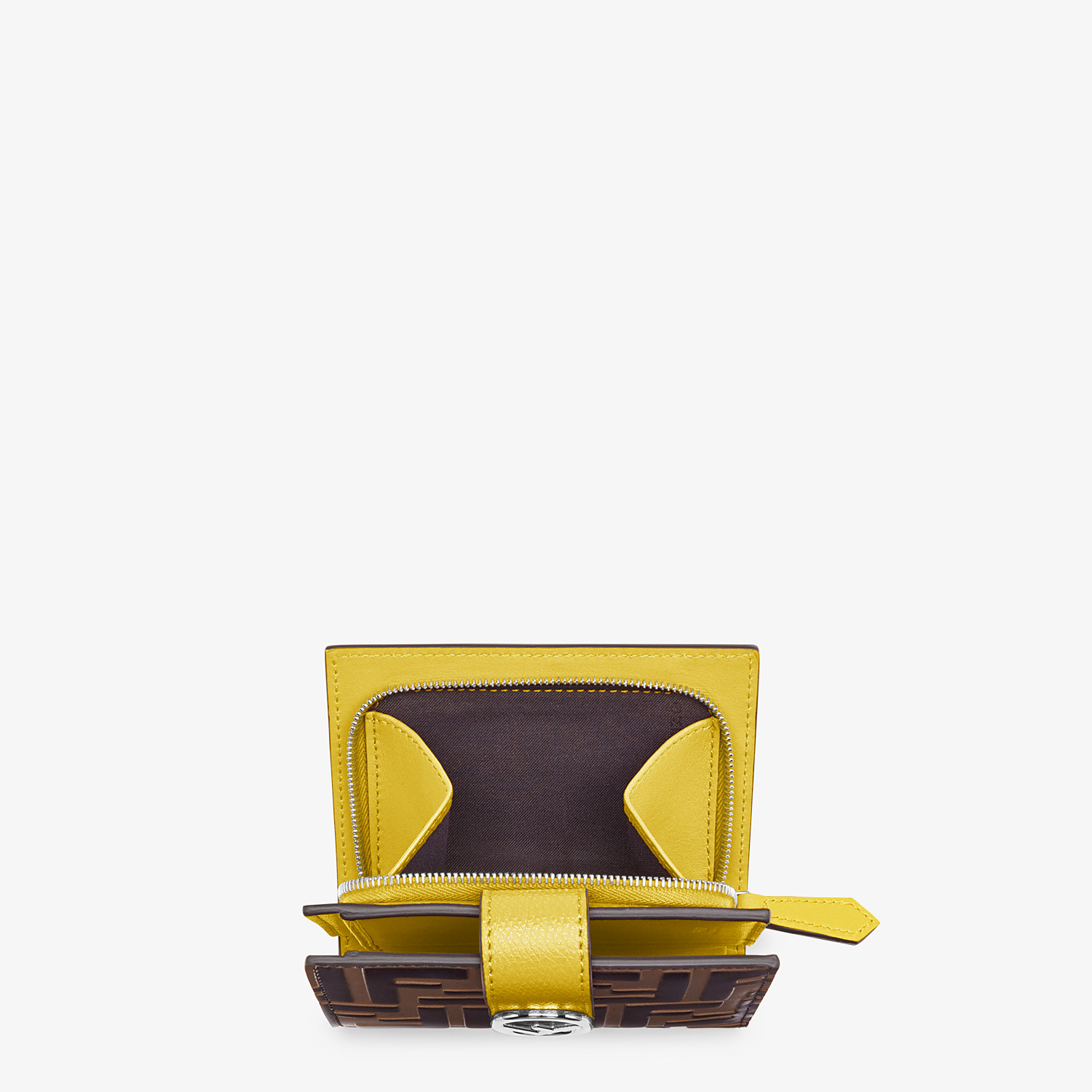 FENDI BIFOLD - Compact, yellow leather wallet - view 4 detail