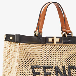 FENDI PEEKABOO X-TOTE - Natural raffia bag - view 5 thumbnail