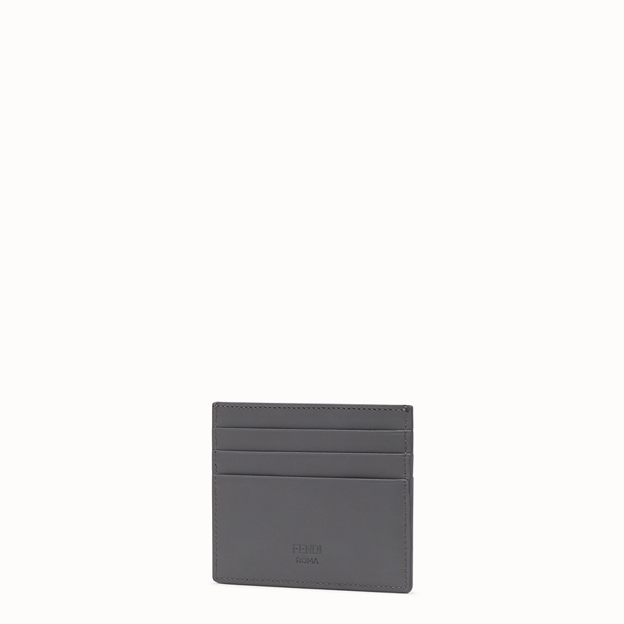 FENDI CARD HOLDER - Grey leather card holder - view 2 detail
