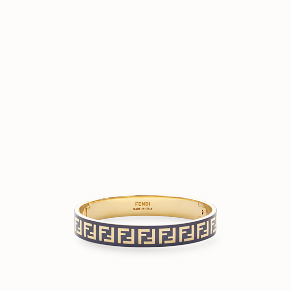 FENDI FF BRACELET - Gold and blue coloured bracelet - view 1 small thumbnail
