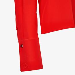 FENDI SHIRT - Red crêpe de Chine blouse - view 3 thumbnail