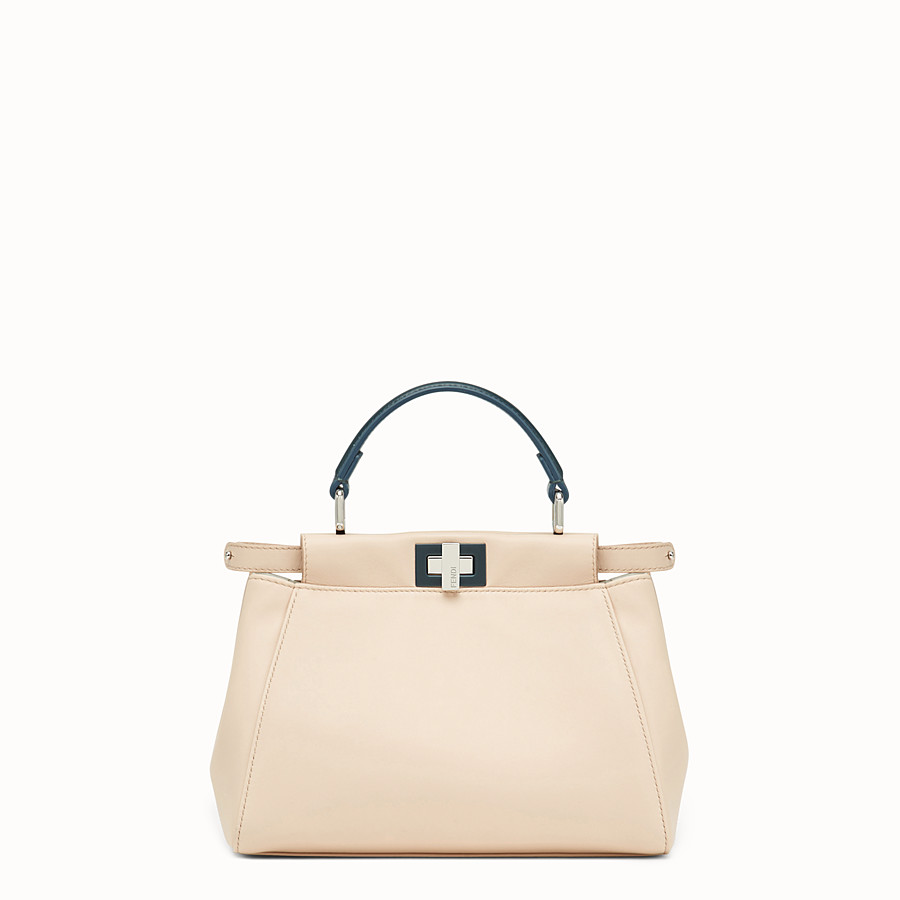 FENDI PEEKABOO MINI - Tasche aus Leder in Rosa - view 1 detail