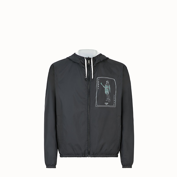 FENDI WINDBREAKER - Black nylon windbreaker - view 1 small thumbnail