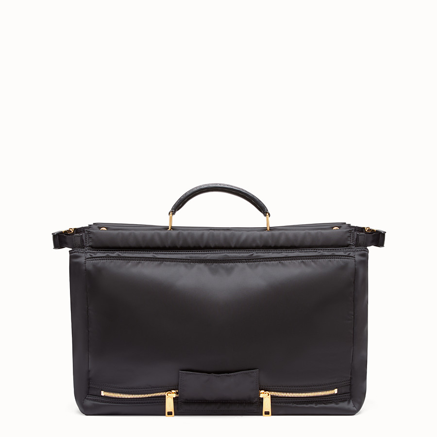 FENDI PEEKABOO MEDIUM FENDI AND PORTER - Black nylon bag - view 3 detail
