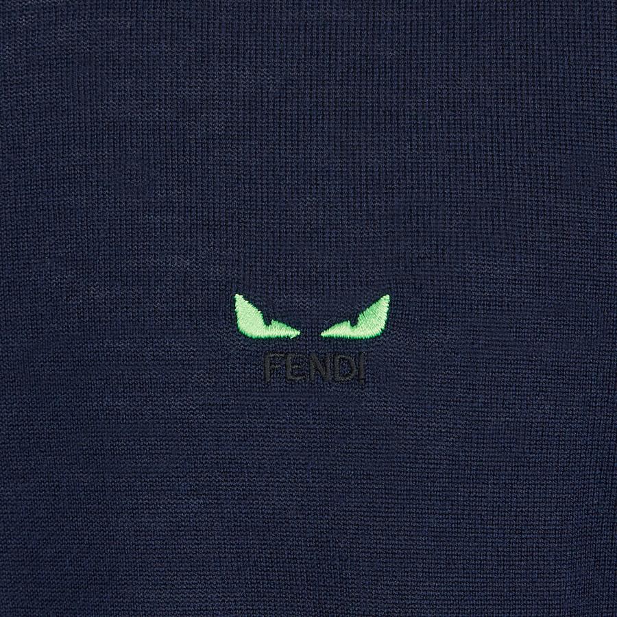 FENDI PULL - Pull en laine bleue - view 3 detail