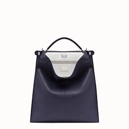 FENDI PEEKABOO X-LITE FIT - Blue Romano leather bag - view 2 thumbnail
