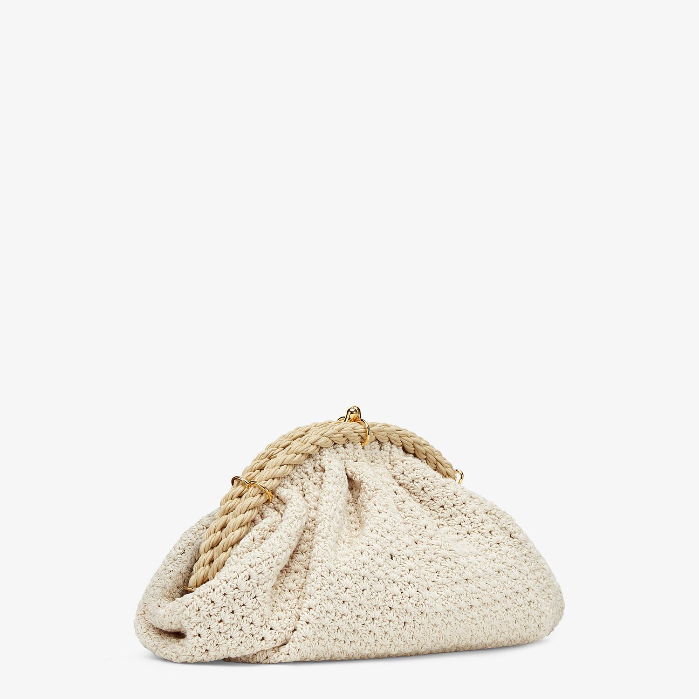 FENDI SHELL - White cotton-crochet pochette - view 3 detail
