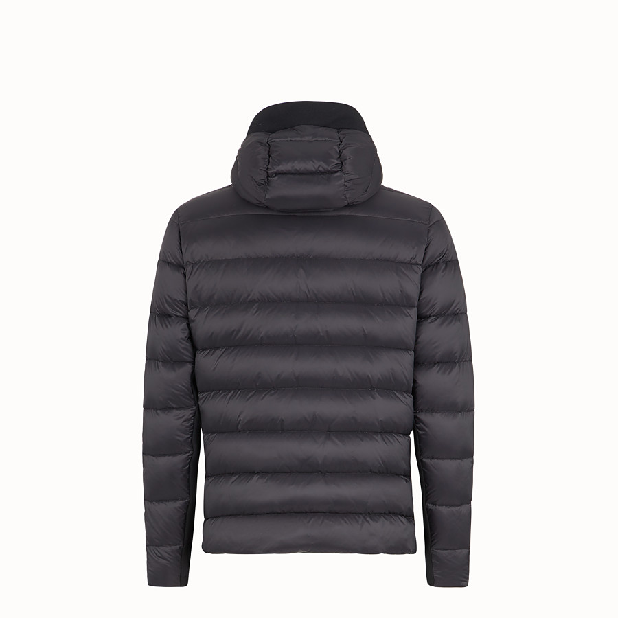 FENDI BLOUSON JACKET - Black tech jersey jumper - view 2 detail